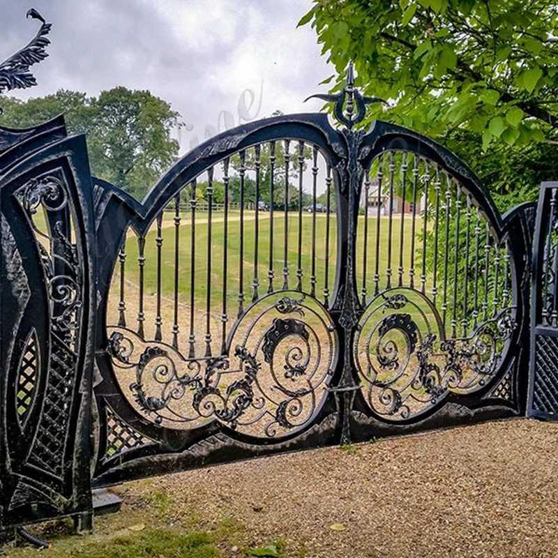IOK-185iron-double-swing-garden-gates-for-sale