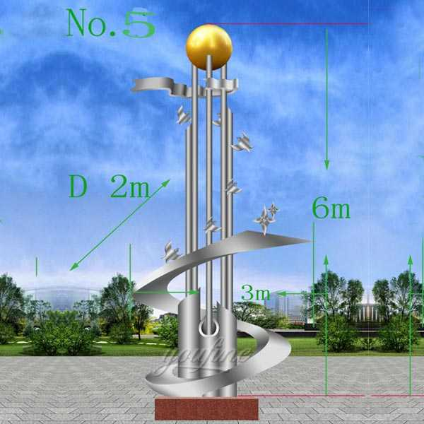 Large outdoor mirror high polished abstract stainless steel roundabout sculpture designs for sales