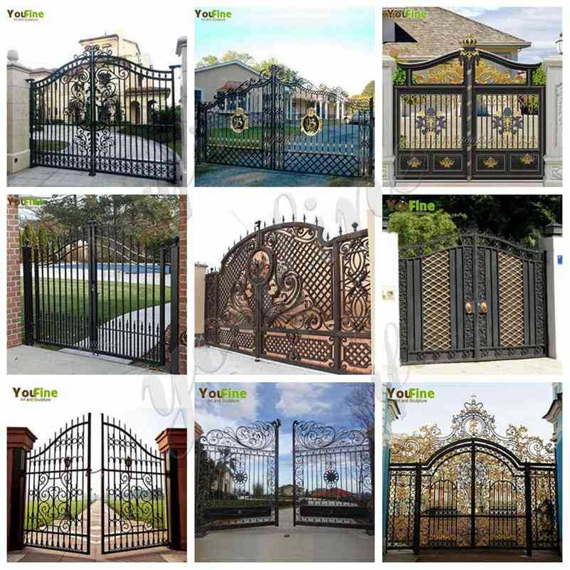 Metal Wrought Iron Garden Gate and Fence Designs for Sale