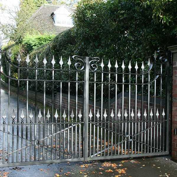 Modern front door metal art swings driveway iron entry gate design for house--IOK-191