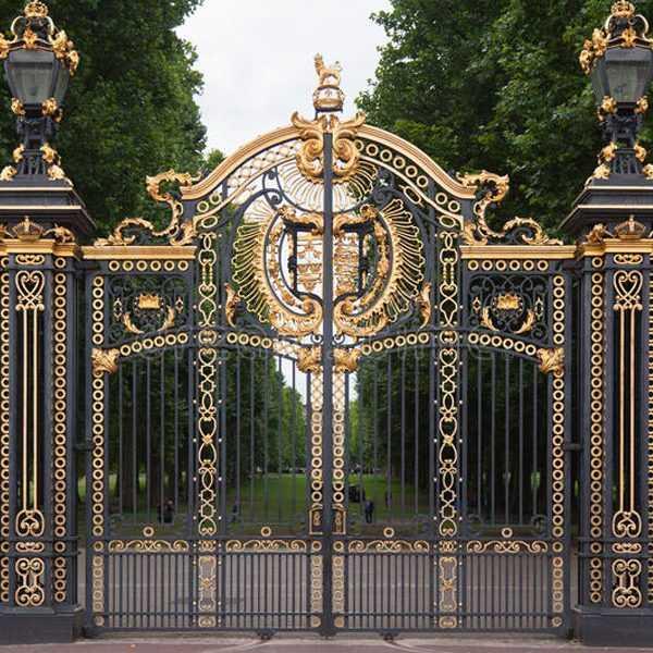Modern large sliding garden gate design wrought iron driveway gates for sale