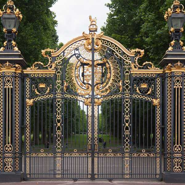 Modern large sliding garden gate design wrought iron driveway gates for sale--IOK-181