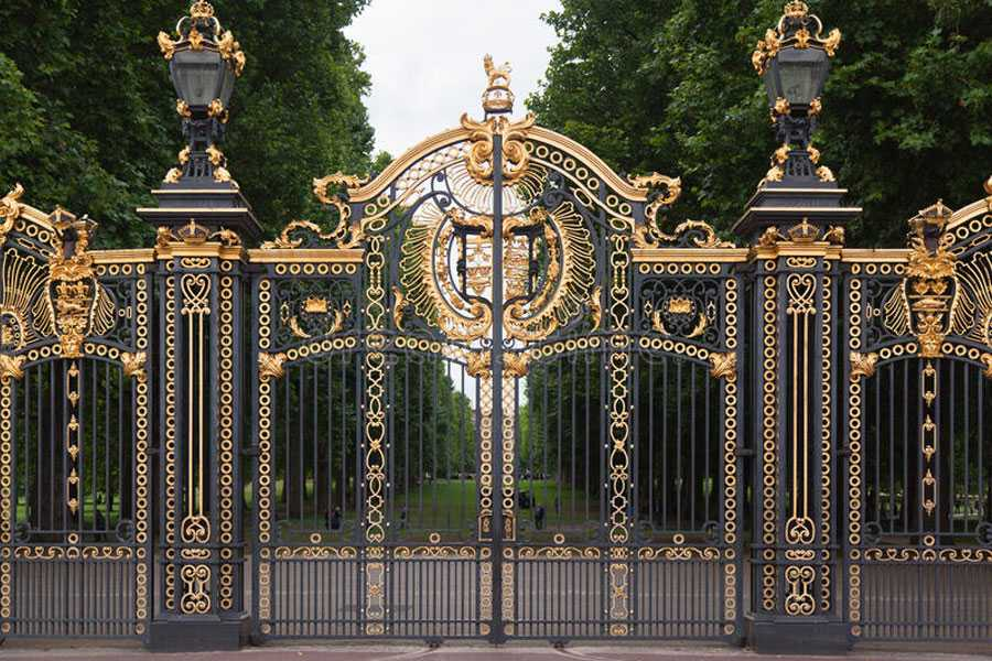 Modern large sliding garden gate design wrought iron driveway gates for sale–IOK-181