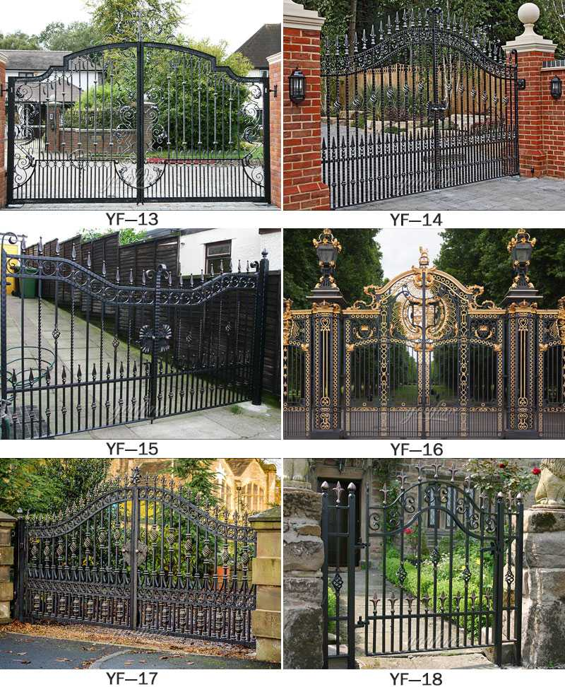 Modern large sliding garden gate design wrought iron driveway gates for sales