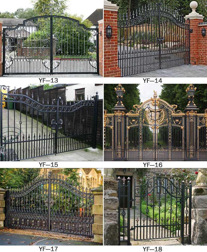 Modern large sliding garden gate design wrought iron ... on Iron Get Design  id=21736