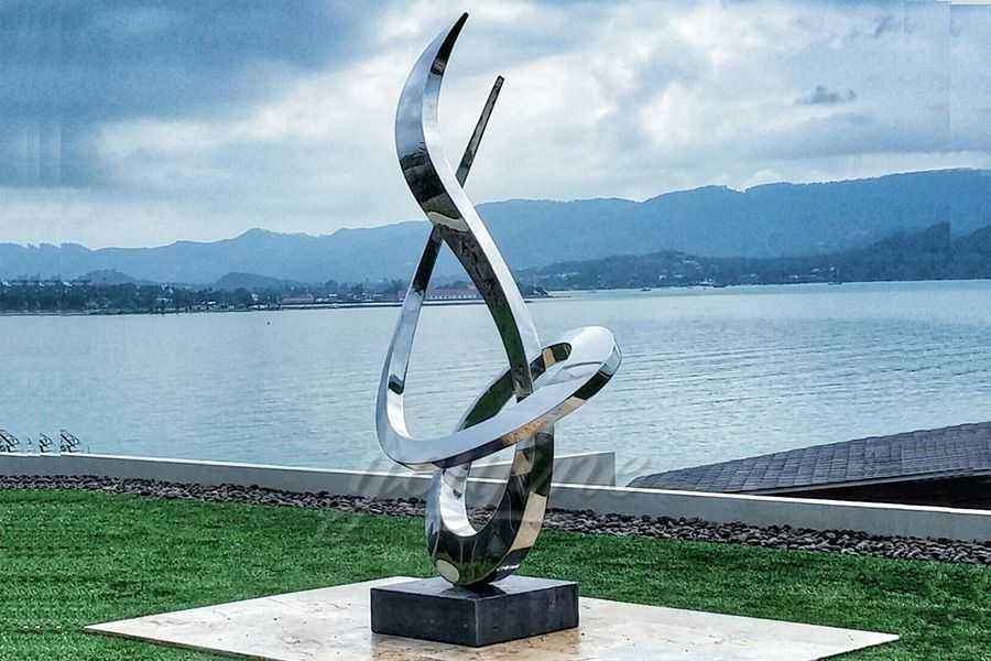 Modern large outdoor stainless steel metal sculpture for outdoors–SSSA-03