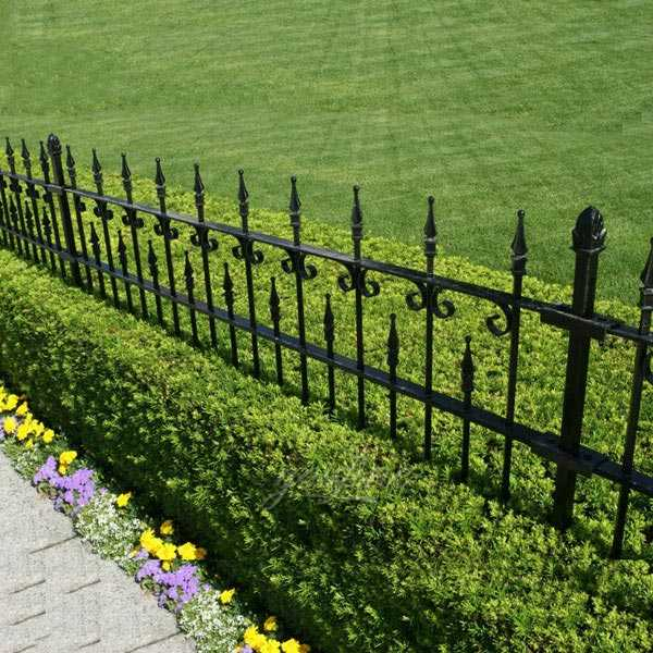 Ornament cheap metal garden wrought iron fencing panels costs for sale from iron fence company in China–IOK-139