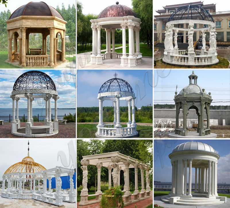 Outdoor White Marble Gazebo for Sale