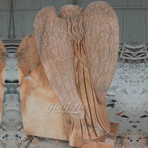 Polished granite stone angel tombstone monuments stone design for sale