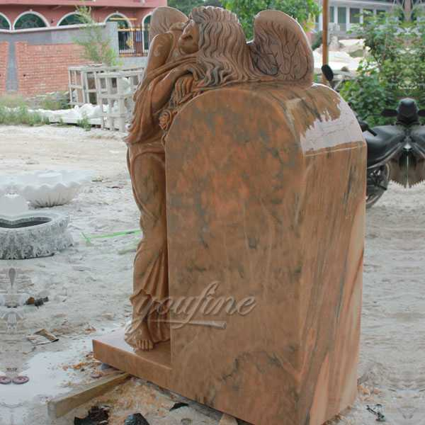 Polished granite stone angel tombstone stone design for sale