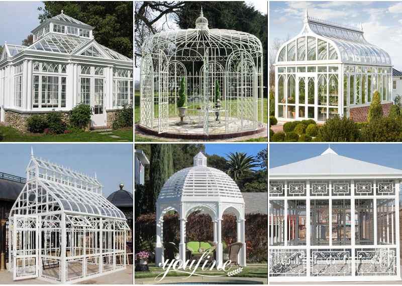 Popular Simple Design White Iron Garden Gazebo