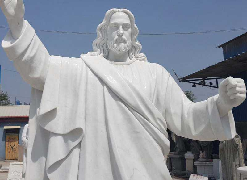 The-details-of-Jaint-catholic-white-marble-church-statues-of-christ-Jesus
