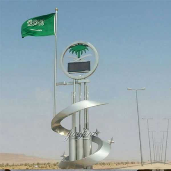 The series of Saudi Arabia giant metal art sculpture stainless steel designs for sale CSS-08