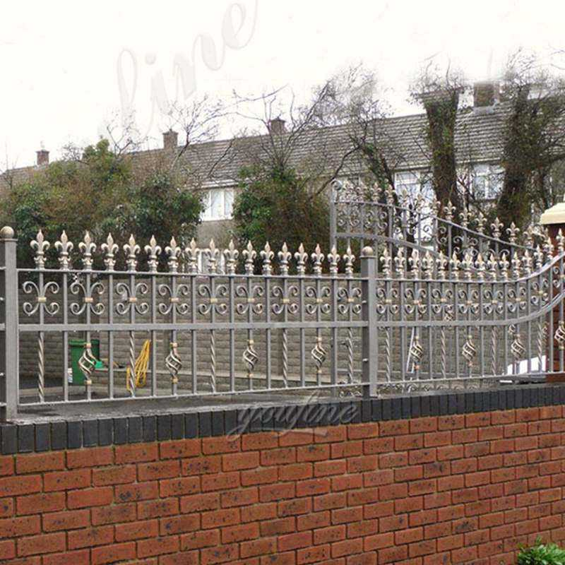 Wholesale hot dip galvanized wrought iron fence panels designs for sale