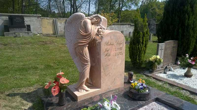 angel cemetery statues headstone designs