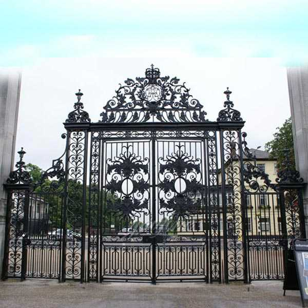 Bespoke Modern Metal Double Sliding Wrought Iron Driveway Estate Gate Designs IOK-127
