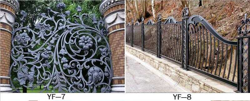 decorative wrought iron fence for sale