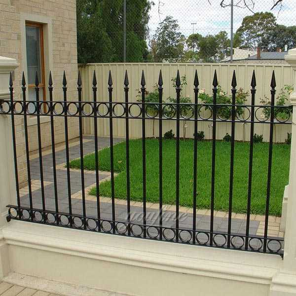 Easy decorative wrought iron gates and fences for sale from factory directly supply–IOK-136