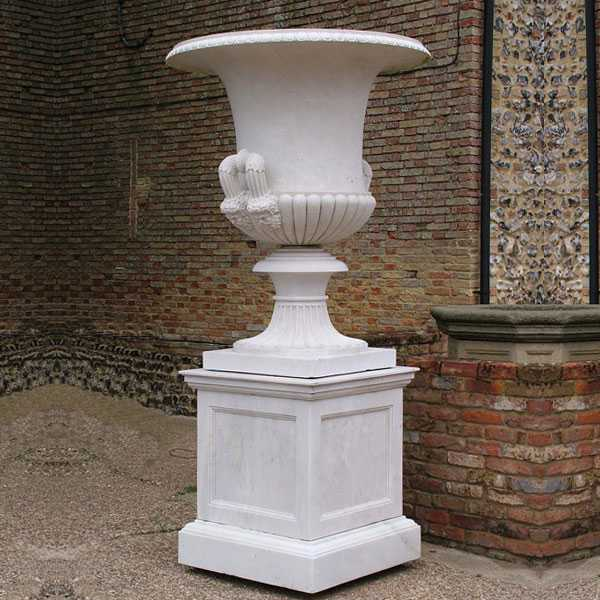 Factory direct supply outside tall patio white marble for Garden accessories sale