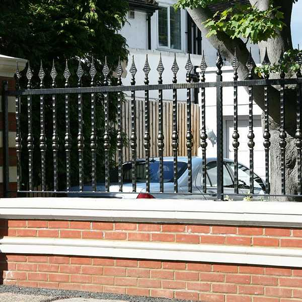 henley wall iron fence for sale