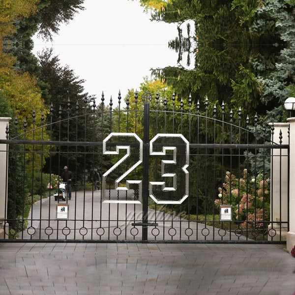 hot selling new design cheap wrought iron driveway gates designs for decoration