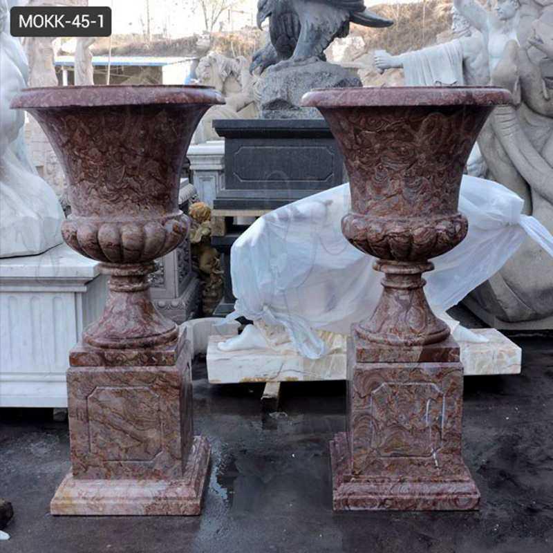 indoor or outdoor marble planter