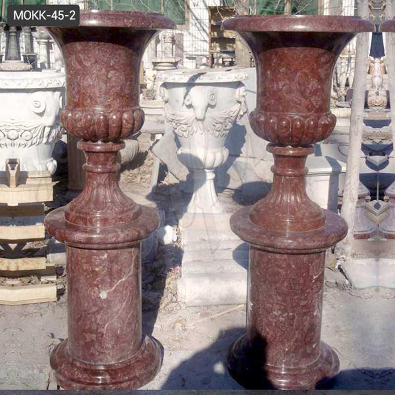 indoor or outdoor marble planters