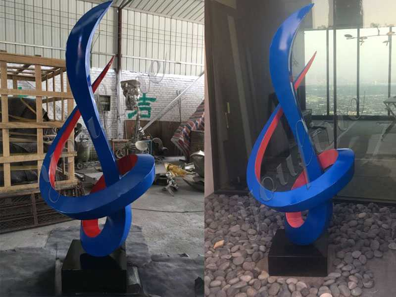 large outdoor stainless steel metal sculpture