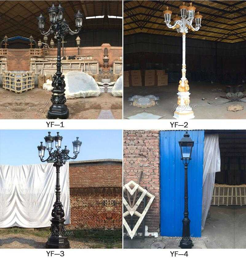 metal lamp posts for sale