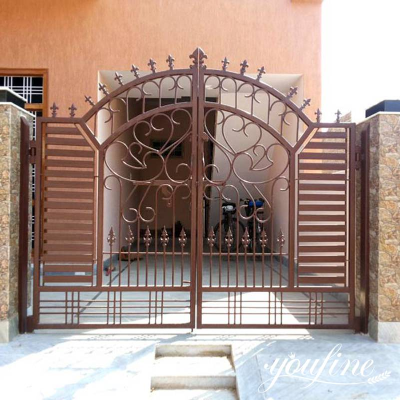 metal wrought iron gates designs for sale