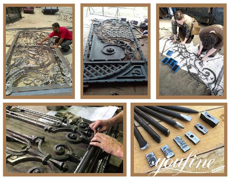 metal wrought iron gates process