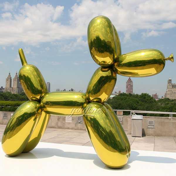 modern famous metallic balloon animals jeff koons balloon dog green design for sale
