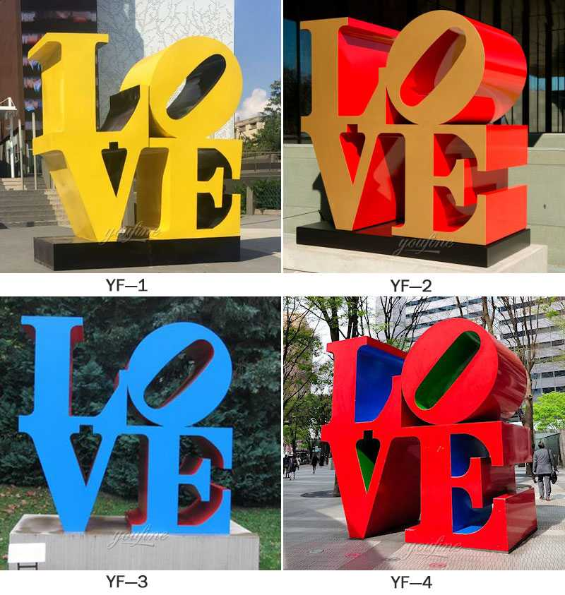 modern outdoor metal sculptures letter Love design for our dutch friend