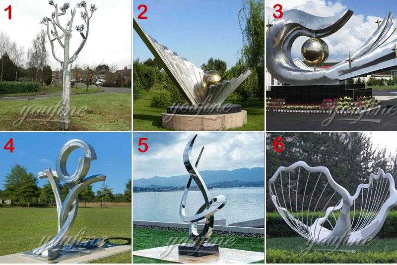 modern stainless steel sculpture for sale