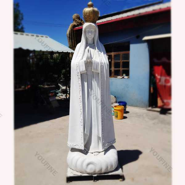 our lady of fatima statue with crown portugal for sale