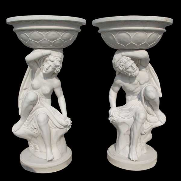 Unique Tall Garden Outdoor Figure Marble Flower Pots for Sale MOKK-44