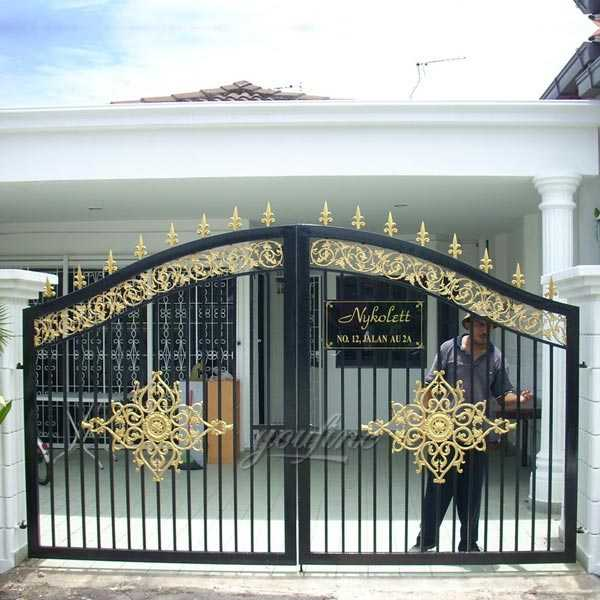 . vintage modern patio double decorative wrought iron gate designs for