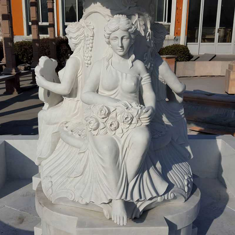 white marble tiered water fountain for sale
