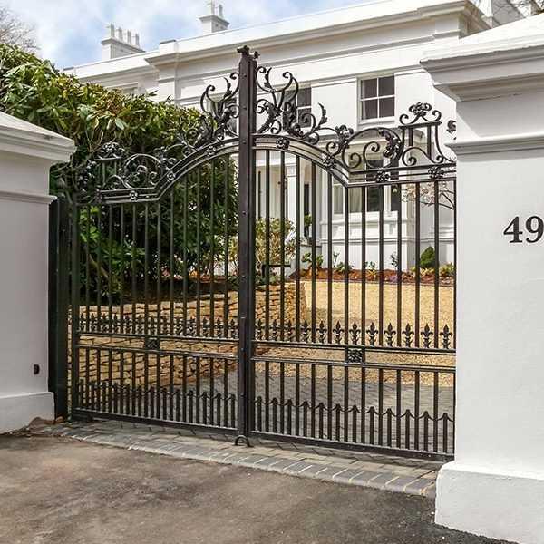 wrought iron gate for villa entrance