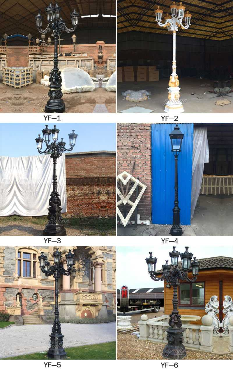 wrought iron lamp post for sale