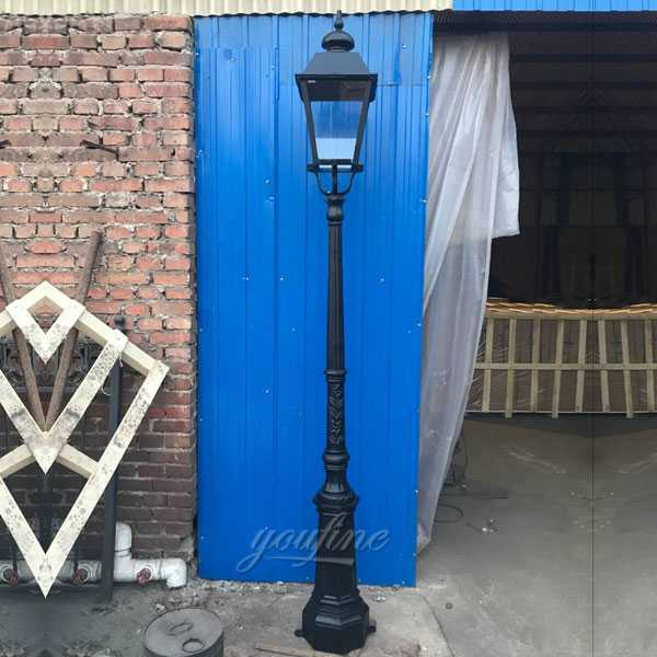 wrought iron outdoor garden lamp post for sale