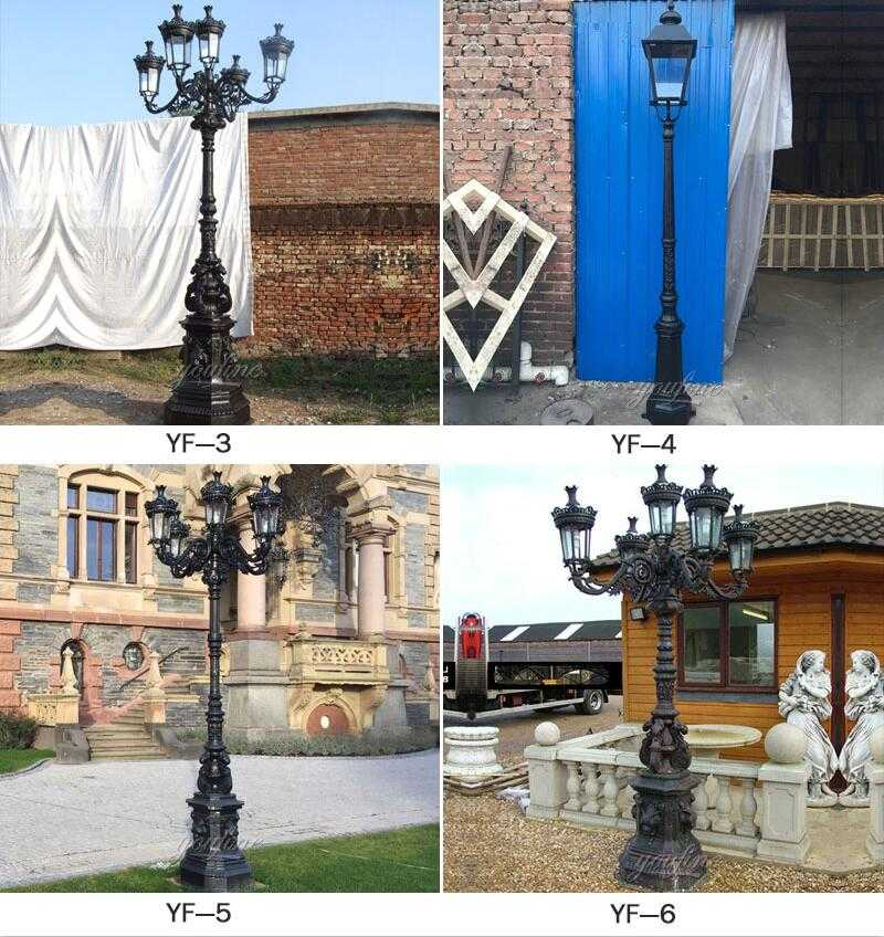 wrought iron outdoor lamp post for sale