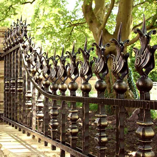 Antique bespoke garden cast iron fence front railing design of garden for sale--IOK-222