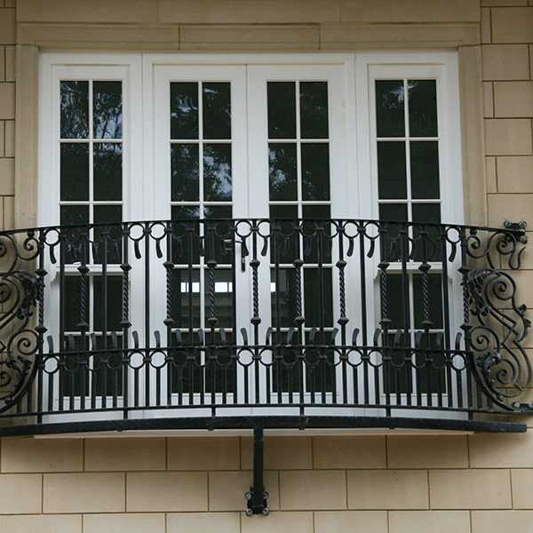 Buy exterior metal decorative juliet balcony verona designs for terrace decoration for sale--IOK-150