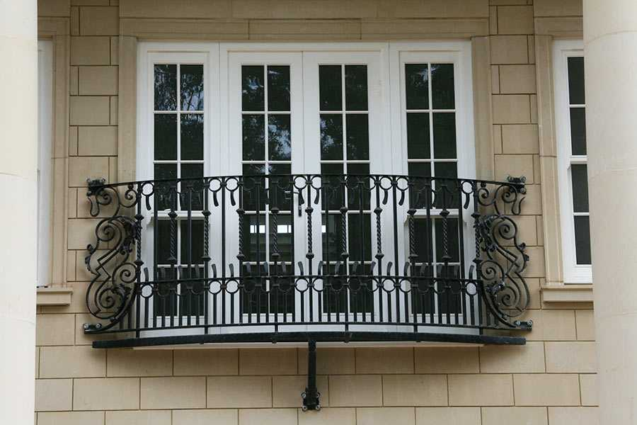 Buy exterior metal decorative juliet balcony verona designs for terrace decoration for sale--IOK-150