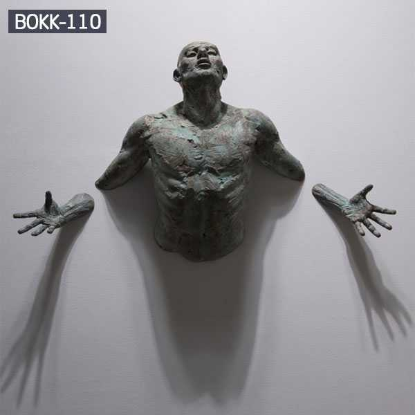 Contemporary Bronze Sculpture Emerging in Walls By Matteo Pugliese for Sale--BOKK-110