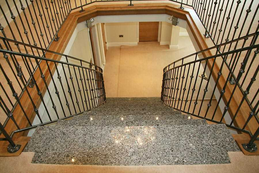 Contemporary cheap internal wrought iron stair banisters and metal art railings designs for sale–IOK-170
