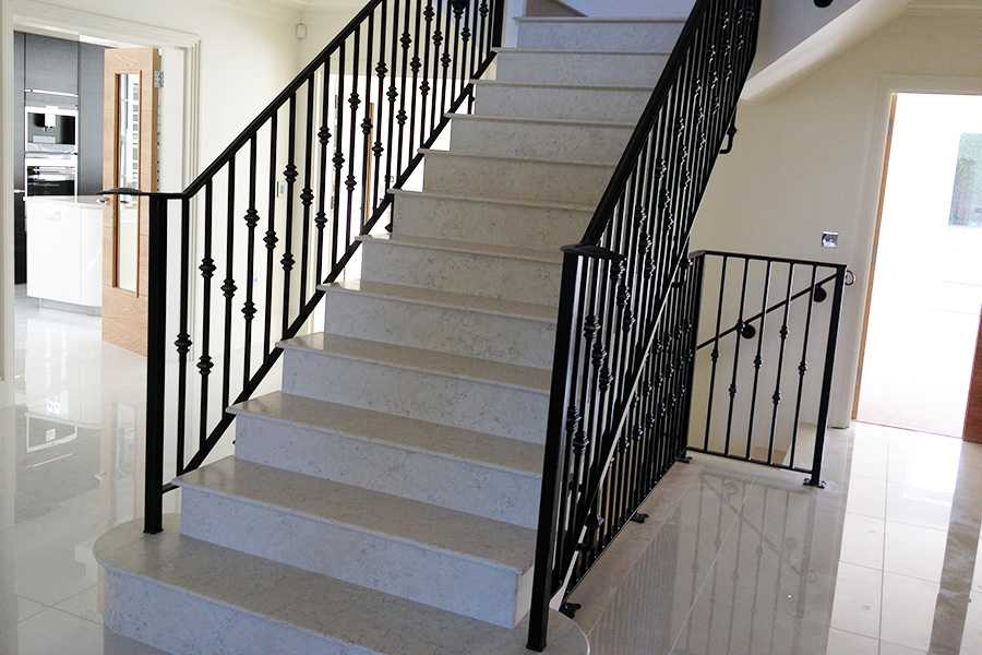 Contemporary metal art decorative wrought iron staircase for interior horse for sale–IOK-161