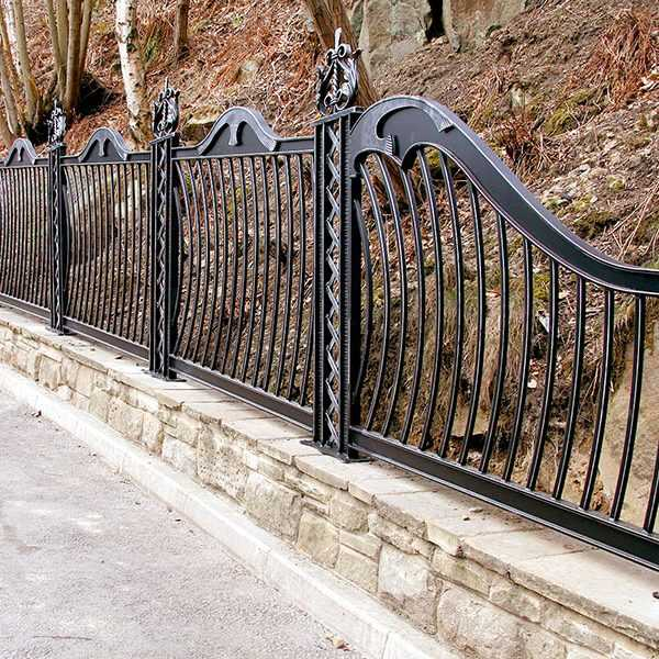 Custom luxury metal work panels cast iron railing costs for street decor for sale–IOK-211
