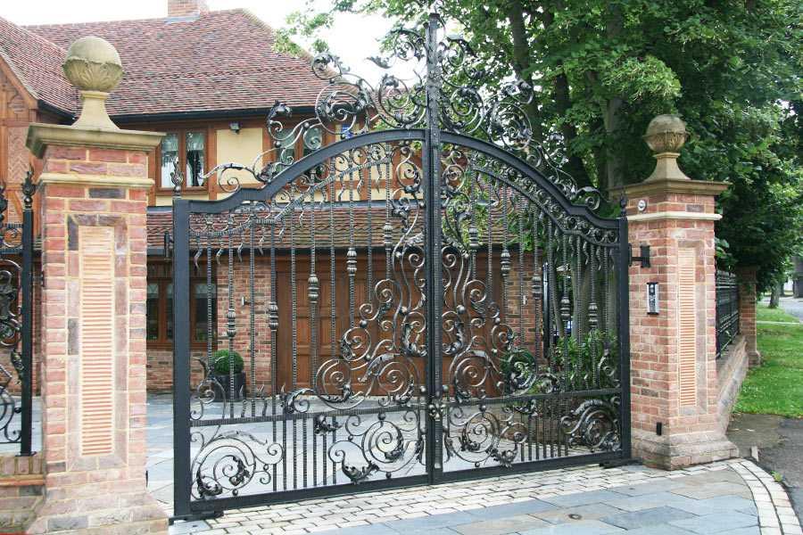 Decorative metal villa gates front door entry gates for sale